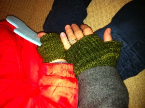 matching mama/toddler fingerless mitts