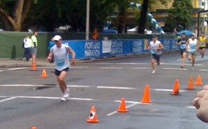 marathon race running